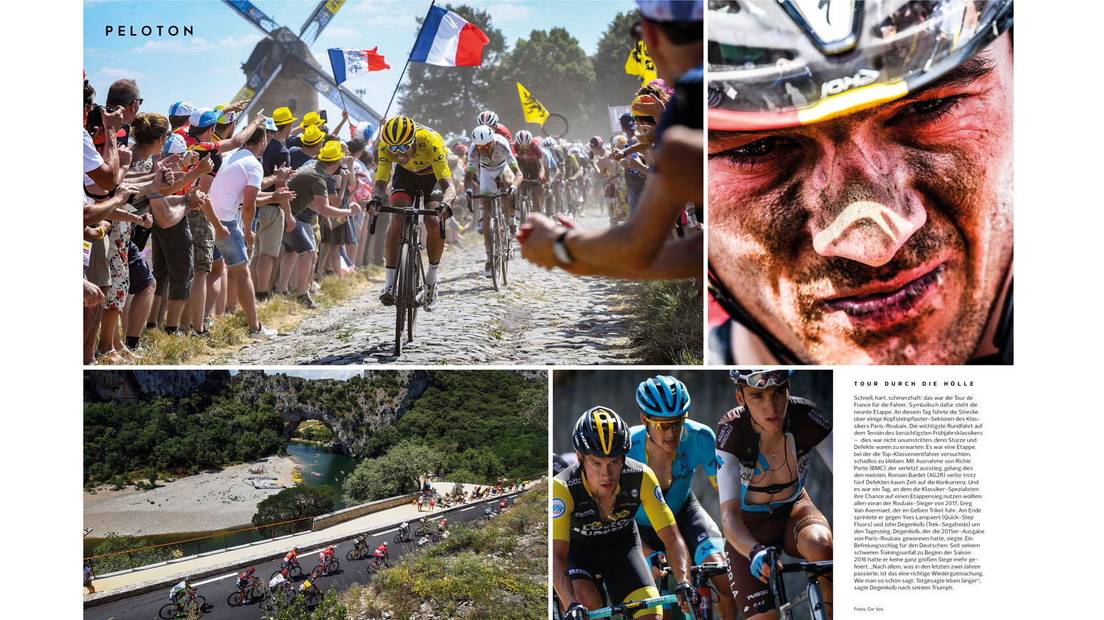 Peloton: Hintergründe aus dem Profi-Geschehen. Rückblich auf die Tour de France, die Geschichte von Kristian Vogel und mehr