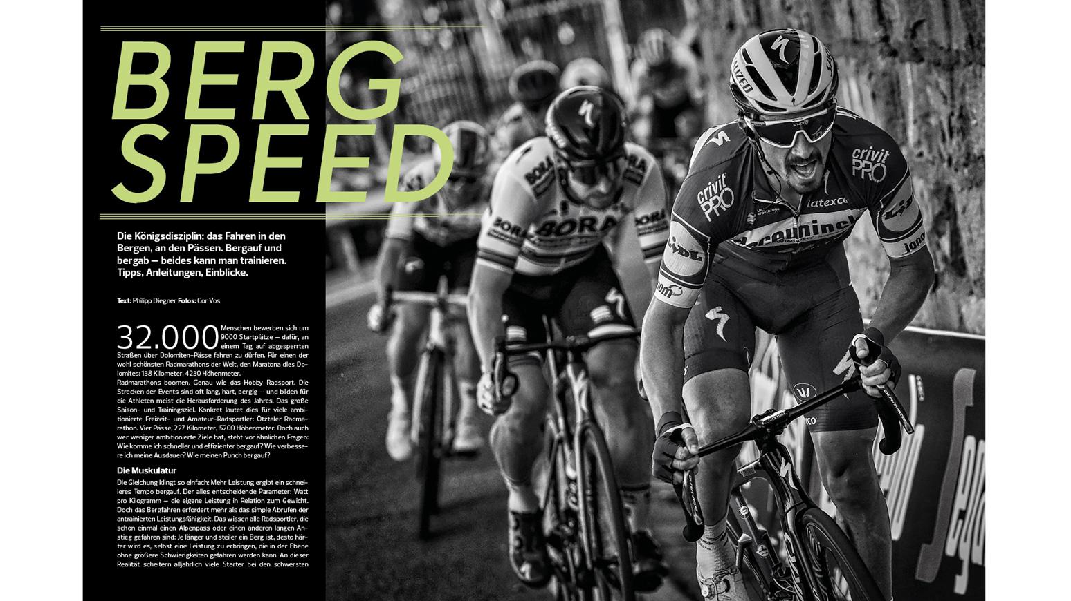 Training-bergauf-Rennrad