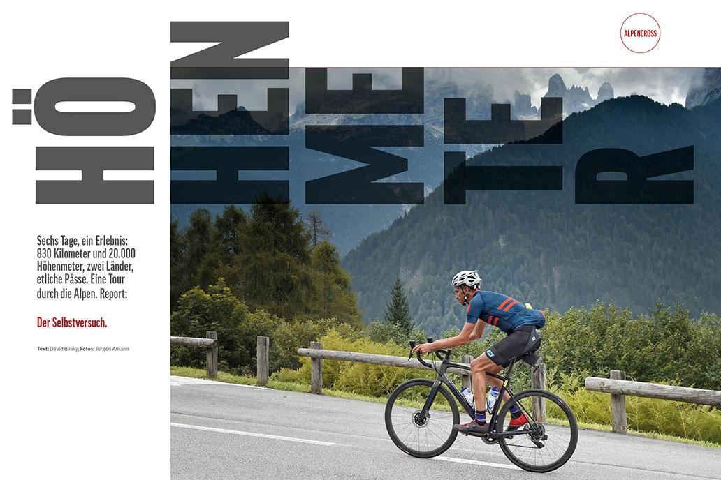 RennRad 8/2020, Alpen-Tour