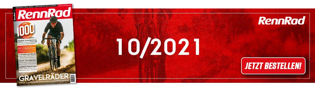 RennRad 10/2021, Banner, Gravelbikes, Inhalt